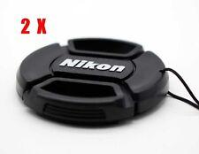 2Pcs 67mm Snap-on Lens Front Cap For Nikon D90 D7100 D7200 with 18-105 18-140mm
