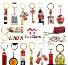 10 MIX BRITISH MINIATURE LONDON KEY RING BRELOCK DIECAST METAL KEYCHAIN SOUVENIR