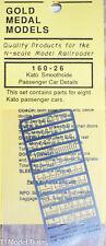 Gold Metal Models #16026 Kato Smoothside Passenger Car Details (N Scale) Brass