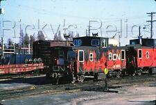 Original Slide CN 79575 Caboose Canadian National Manitoba Canada 1982