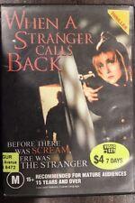 WHEN A STRANGER CALLS BACK DVD RARE DELETED HORROR CAROL KANE & CHARLES DURNING