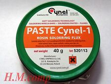 Soldering Flux Paste Rosin HQ for tin nickel plated, brass & copper surfaces 40g