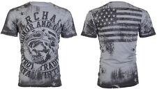 ARCHAIC by AFFLICTION Mens T-Shirt RACER American Customs USA FLAG Biker $40 a