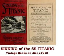 Titanic Vintage eBooks on Disc Sinking SS Titanic 1912 Marine Disaster Shipwreck