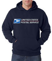 USPS POSTAL NAVY 3C HOODIE Hooded Sweatshirt Logo Chest United States Service US