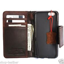 genuine full leather Case for apple iphone 6s book wallet cover luxury 6 s DE id