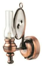 Dolls House Copper Oil Lamp Wall Light Camden LED Battery Lighting