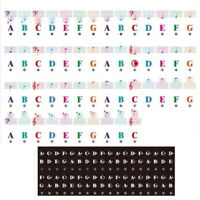 1X(Color Piano Keyboard Stickers for 88/61/54/49/37 Key Multi-Color,Removable Le