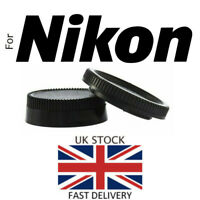 NEW Body & Rear Lens Cap SET - Nikon F Mount SLR / DSLR Camera / Lens UK Seller