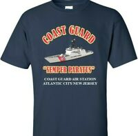 COAST GUARD AIR STATION ATLANTIC CITY * NEW JERSEY  VINYL PRINT SHIRT/SWEAT