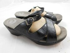 Dansko Women's Sela Sandals  41  11  Black Patent Sausalito Collection
