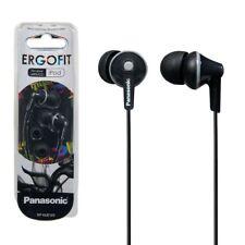 Panasonic RP-HJE125-K Stereo In Ear Canal Bud Ergofit Headphones RPHJE125 Black