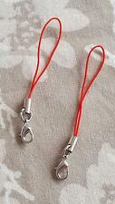 RED Keys Charms USB Lanyard Camera Strap Phone Cell Holder Card Mobile MP3 x2