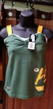 GREEN BAY PACKERS LADIES WOMENS CROSS BACK TANK TOP NFL REEBOK NWT