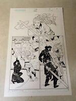 SCION #37 original art ETHAN vs BRON SWORD BATTLE ACTION PAGE, 2003, CROSSGEN