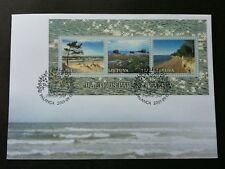 Lithuania Latvia Joint Issue Baltic Coastal Landscapes 2001 Beach (ms FDC)