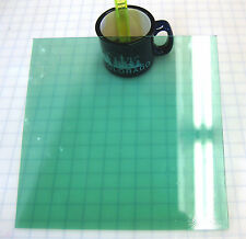 Aqua Marine Green Smoothie Transparent Stained Glass Sheet or Mosaic Tiles