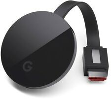 Google Chromecast Ultra (4K Ultra HD) (3rd Generation) - Black