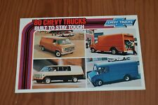 ★★1980 CHEVY TRUCK/VAN/CUBE/HEAVY DUTY ORIGINAL DEALER PROMO POSTCARD★★