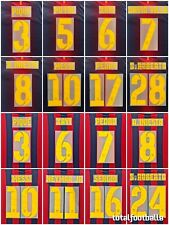 Barcelona Home 12-13 and 2013-14 Name Set number SportingID Player Issue Messi