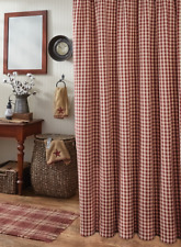 Country Red And Tan Check Gingham Fabric Shower Curtain By Park Designs