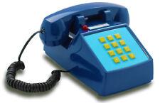 Opis PushMeFon analog Festnetz-/ Tasten-/ Tischtelefon Retrostil 1970 dunkelblau
