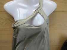 b.p.c. Party Shirtkleid Longtop Stretch Gr. 36/38 beige gold One-Shoulder NEU