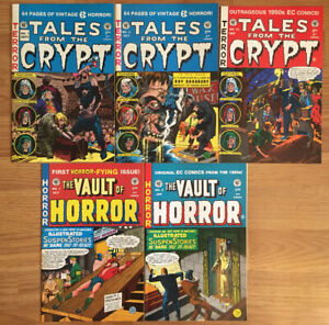 Russ Cochran EC 1991 7 TALES FROM THE CRYPT 1 2 10 VAULT OF HORROR 1 2  NM LOT