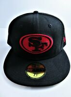 San Francisco 49ers Fitted Hat Cap New Era 59FIFTY NFL Black Size 7.5 Used
