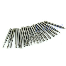 "20pcs 1/8"" Tungsten Carbide Cutter Rotary Burr Set CNC Engraving Bit 3mm"