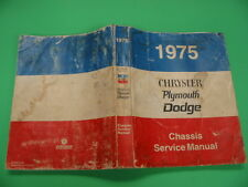 1975 CHRYSLER, PLYMOUTH, DODGE, - CHASSIS SERVICE MANUAL / CHRYSLER CORP.