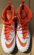 NEW Nike Mens Orange White Force Savage Football Cleats Men's Size 16 AJ6605-108