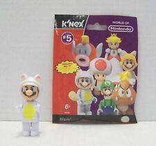 K'Nex White Tanooki Mario Minifigure Wii Nintendo Super Mario Bros Series 5
