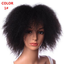 6 inch Short Afro Kinky Curly Kanekalon Synthetic Fluffy Wigs For Women 100g/pc