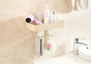 Plastic Bathroom Toilet Rack Sundries Organizer Plastic Wall Cosmetics Shelf