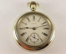 Antique Elgin Pocket Watch 7 Jewels 18 Size Silveroid Case S/N 12749146 Ca.1907