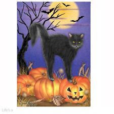 Halloween Flag. Jack O Lantern Kitty