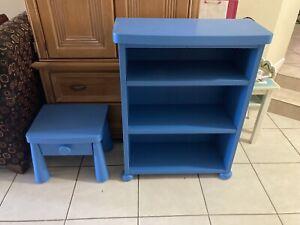 Ikea Mammut Children's Shelves Bookshelf & Bedside Table BLUE LOCAL PICKUP ONLY