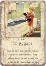 "Safe! Bath Soap Vintage Ad It Floats 10"" X 7"" Reproduction Metal Sign ZF34"