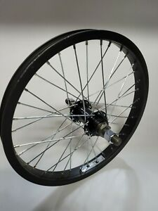"""NOS BMX 16"""" Rear Wheel 14mm Axle, 36h Weinmann 6061 Rim, Threaded for Freewheel"""