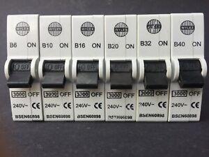 Wylex Plug In MCB ABB B6 B10 B16 B20 B32 B40