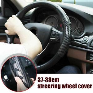 2x Carbon Fiber Universal Steering Wheel Booster Cover Non-Slip Car Accessories