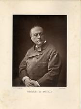 Théodore de Banville Vintage print, Galerie Contemporaine Photoglyptie  20x2