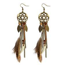 Bohemian Feather Tassel Dream Catcher Dangle Stud Earring Women Accessories