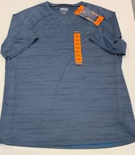 Kirkland Signature Xxl Mens Active Tee Blue Reflective Stripe Wicking New 2Xl