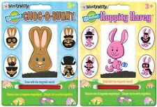 2 Mini Wooly Willy Chocolate Bunny & Hoppity Harey Magnetic Personality