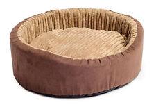 Ancol Oval Bed Timberwolf - Comfy Quality Dog Puppy Cat Beds Various Sizes