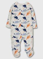 Brand New Tu Baby Boys White Dinosaur 2.5 Tog Sleepsuit Size 6-9 months