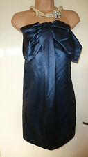 Whistles Blue Bow Front Dress Sz12 BNWT RRP£150