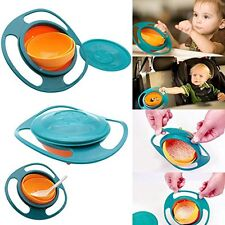 Gyro Bowl Spill Resistant Kids Gyroscopic Bowl With Lid (NEW)